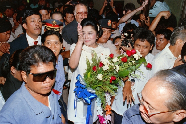 The former first lady of the Philippines, Imelda M