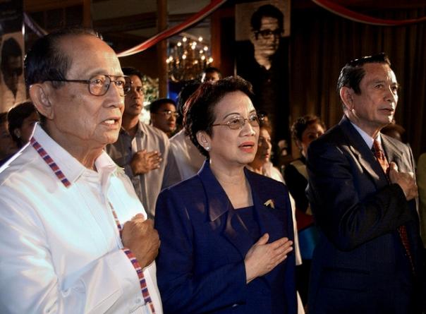 Philippine former presidents Corazon Aqu