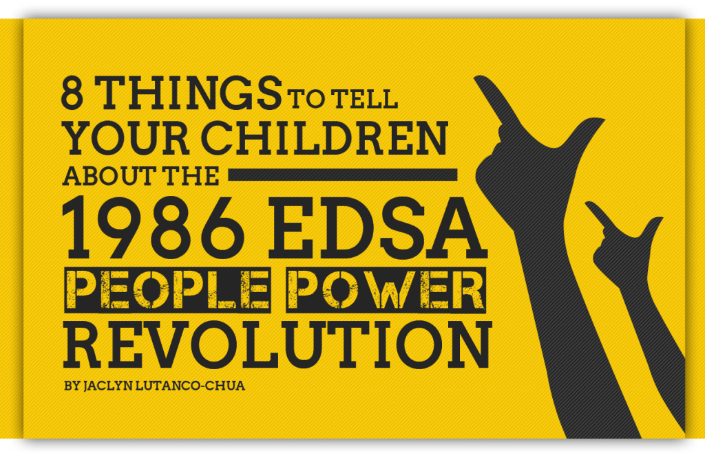 "the important words of edsa revolution February 25th marks the 30th anniversary of the people power revolution (also known as the edsa revolution – named after the stretch of epifanio de los there are thousands of loan words in tagalog, particularly from spanish, and the use of ""taglish,"" the mixing of tagalog and english, is common."
